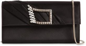 Roger Vivier Wings Silk Envelope Clutch