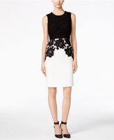 Calvin Klein Lace Bodice Sheath Dress