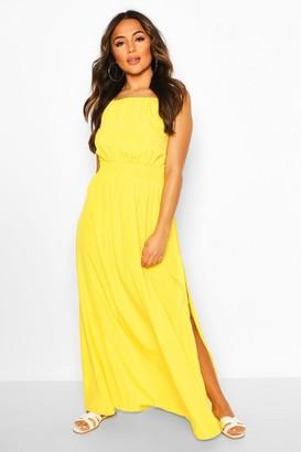 boohoo Petite Halterneck Beach Maxi Dress