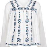 River Island Girls white embroidered trophy jacket