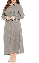 Lauren Ralph Lauren Plus Houndstooth Maxi Sleepshirt
