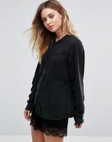 Vila Collarless Shirt
