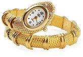 Next Women's Dressing Snake Shape Bangle Bracelet Watch Quartz Gold-Silver WTH0200