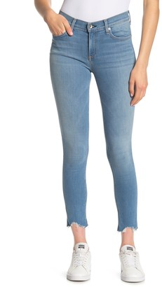 Rag & Bone Destroyed Hem Skinny Jeans