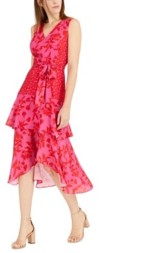 Sam Edelman Printed V-Neck Midi Dress