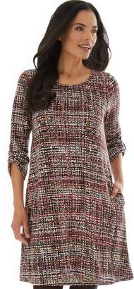 Apt. 9 Petite Print Shift Sweater Dress