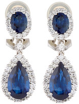 Diana M. Jewels 18k White Gold Sapphire & Diamond Drop Earrings