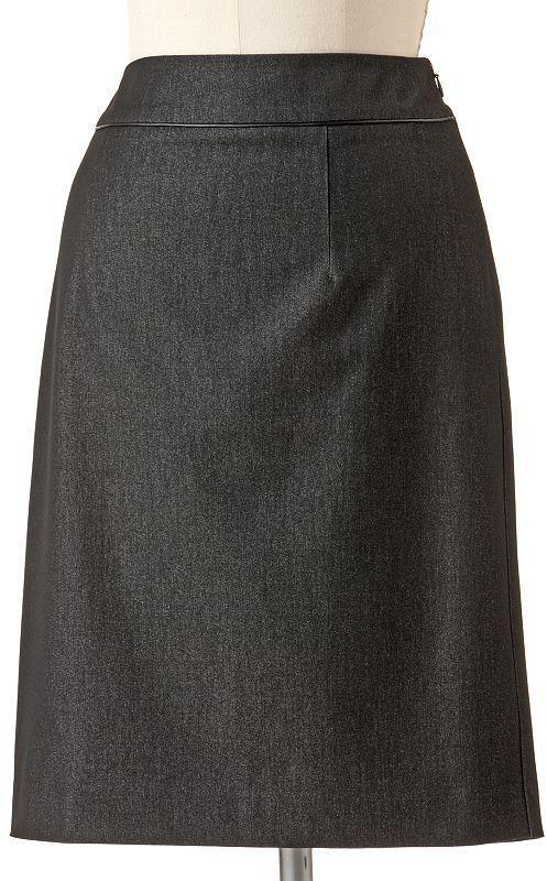 Dana Buchman solid pencil skirt