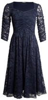Dorothy Perkins Womens Feverfish Navy Lace Flared Dress