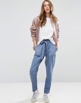 Asos Washed Peg Pant with Tie Waist
