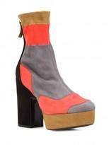 Pierre Hardy colour block platform ankle boots