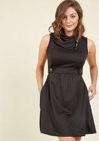 Monteau Inc Coach Tour A-Line Dress in Noir