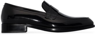 Givenchy Almond-Toe Slip-On Loafers