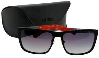 GUESS Black Plastic Frame Purple Lens Unisex Sunglasses GU 6842 05B