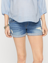 A Pea in the Pod Joe&'s Jeans Secret Fit Belly Cuffed Maternity Shorts