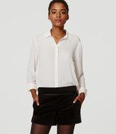LOFT Velvet Tuxedo Shorts