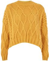 Topshop Cropped Cable Jumper
