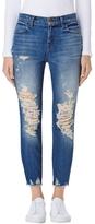 J Brand Alana Fray Hem High Rise Crop Jean In Torrent