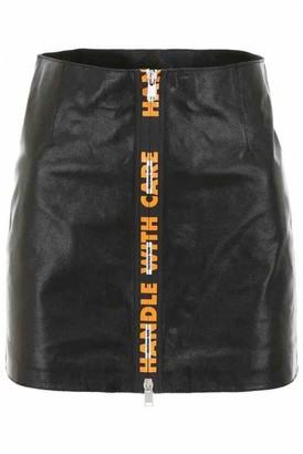 Heron Preston Black Leather Skirts