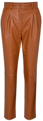 Etro High-rise slim leather pants