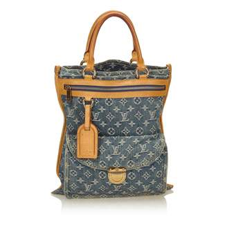 Louis Vuitton Plat Blue Cloth Handbags