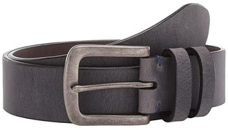 Torino Leather Co. 40 mm Distressed Waxed Harness Leather (Charcoal) Men's Belts