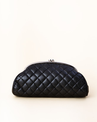 Chanel Quilted Perforated Leather Bean Clutch