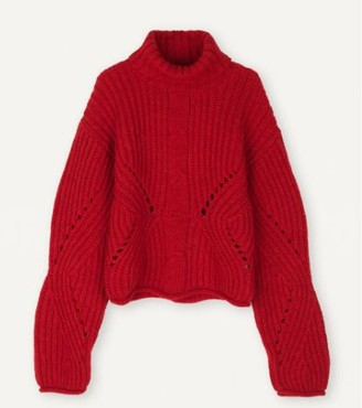 Libertine-Libertine Red Roll Neck Debut Knit Jumper - XS | red - Red/Red