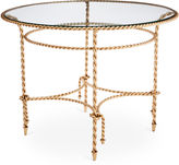 One Kings Lane Collection Hyannis 40 Dining Table, Gold