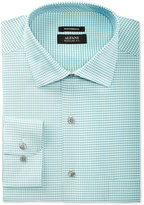 Alfani Men's Classic/Regular Fit Performance Stretch Easy Care Gingham Dress Shirt, Only at Macy's