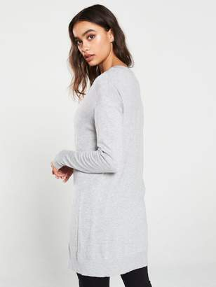 Very Slouch Boyfriend Cardigan - Grey Marl