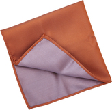 Oxford Pocket Sq Silk Orange