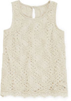 Arizona Allover Crochet Tank Top - Girls 7-16 and Plus