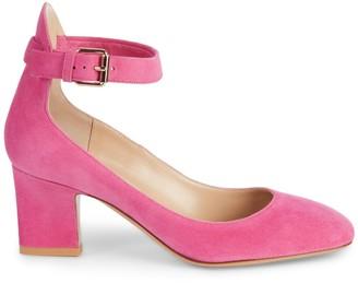 Valentino Suede Ankle Strap Pumps