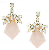 Louise et Cie Opulent Rose Quartz Drop Earrings