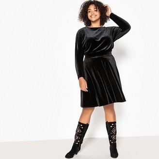 Castaluna Plus Size Flared Velvet Dress