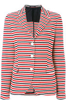 Tagliatore stripe blazer - women - Cotton/Cupro - 40