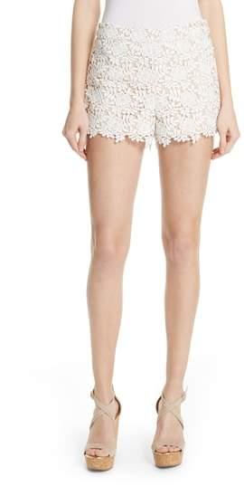 Alice + Olivia Marisa Floral Lace Shorts