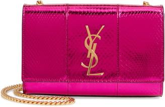 Saint Laurent Small Kate Snakeskin Chain Crossbody Bag