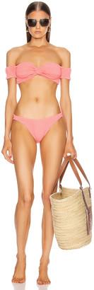 Hunza G Brigette Bikini in Pink Berry | FWRD