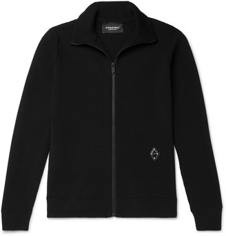 A-Cold-Wall* Slim-Fit Logo-Appliqued Wool-Blend Zip-Through Sweater
