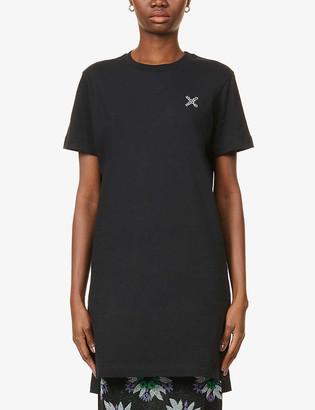 Kenzo Sport branded cotton-jersey mini T-shirt dress