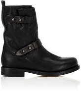 Rag & Bone Women's Double-Strap Moto Boots-BLACK
