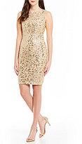 Calvin Klein Floral Sequin Sheath Dress