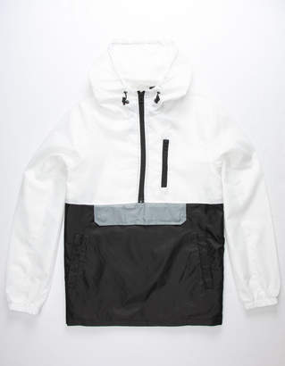 Distortion Colorblock White Mens Anorak Jacket