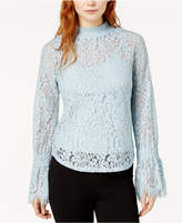 Bar III Mock-Neck Lace Top, Created for Macy's