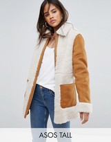 ASOS Tall ASOS TALL Faux Shearling Coat