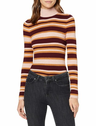 Only Women's Onlgianna L/S Highneck Rib Pullover KNT Sweater