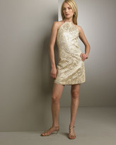 Miguelina Minda Brocade Halter Dress