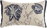 Pier 1 Imports Embroidered Floral Pillow - Indigo